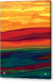Acrylic Print featuring the digital art Sunset In Ottawa Valley 1 by Rabi Khan