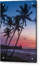 Sunset In Paradise Acrylic Print by Alex Lapidus