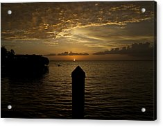 Sunset In Paradise Acrylic Print by Christin Walton
