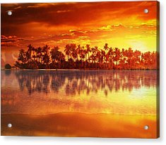 Sunset In Paradise Acrylic Print by Gabriella Weninger - David
