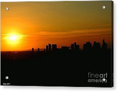 Sunset In Paris By Taikan Acrylic Print