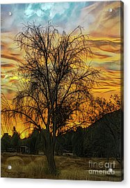 Sunset In Perris Acrylic Print