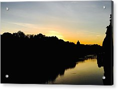 Sunset In Rome Acrylic Print