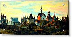 Sunset In Rostov Acrylic Print