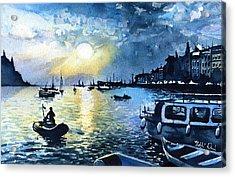 Sunset In Rovinj Croatia Acrylic Print