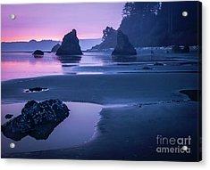 Sunset In Ruby Beach Acrylic Print