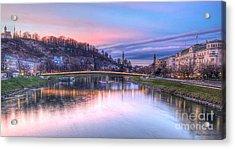 Sunset In Saltzburg Acrylic Print