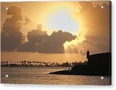 Sunset In San Juan Bay Acrylic Print by George Oze