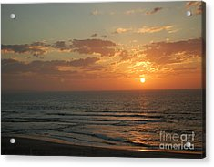 Sunset In Santa Cruz Acrylic Print by Garnett  Jaeger