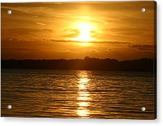 Sunset In Shelter Island  Acrylic Print by Matthew Kennedy