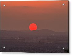 Sunset In Smog Acrylic Print