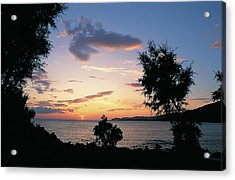 Sunset In South Crete Acrylic Print
