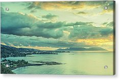 Acrylic Print featuring the photograph Sunset In Tahiti by Gary Slawsky