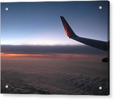 Sunset In The Air Acrylic Print by Renee Antos