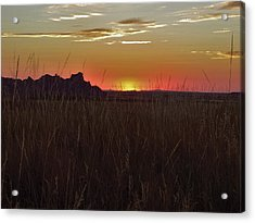 Sunset In The Badlands Acrylic Print