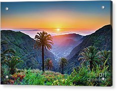 Sunset In The Canary Islands Acrylic Print by JR Photography