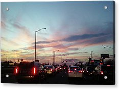 Sunset In The City 2 Acrylic Print by Diane Ferguson