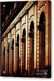 Acrylic Print featuring the photograph Sunset In The City by Baggieoldboy