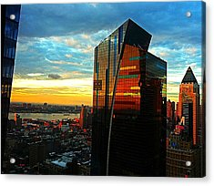 Sunset In The City Acrylic Print by Lisa  Esposito
