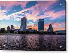 Acrylic Print featuring the photograph Sunset In The City by Randy Scherkenbach