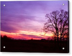 Sunset In The Country Acrylic Print by Amanda Kiplinger