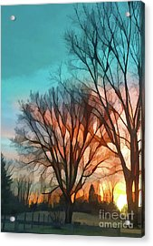 Sunset In The Country Acrylic Print