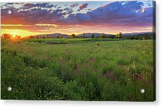 Acrylic Print featuring the photograph Sunset In The Hills 2017 by Bill Wakeley