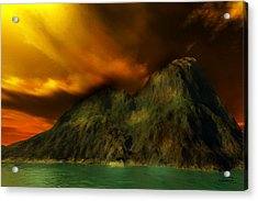 Sunset In The Island Acrylic Print by Emma Alvarez
