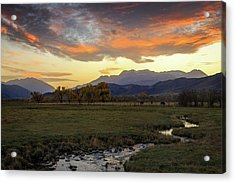 Acrylic Print featuring the photograph Sunset In The North Fields, Heber Valley, Utah. by Johnny Adolphson