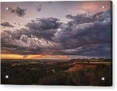 Sunset In The Red Hills Acrylic Print
