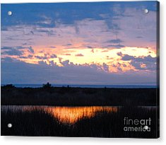 Sunset In The River Sea Beyond Acrylic Print