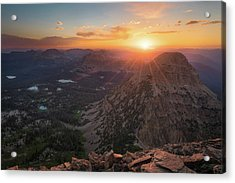 Sunset In The Uinta Mountains Acrylic Print
