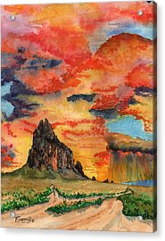 Sunset In The West Acrylic Print
