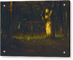 Sunset In The Woods Acrylic Print by George Inness