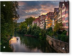 Sunset In Tubingen Acrylic Print