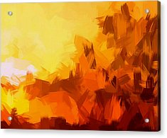Sunset In Valhalla Acrylic Print