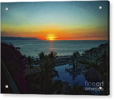 Sunset In Vallarta  ... Acrylic Print by Chuck Caramella