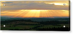 Sunset In Vogelsberg Acrylic Print