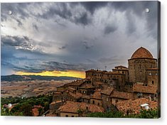 Sunset In Volterra Acrylic Print
