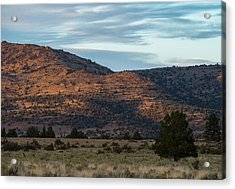 Sunset In Willow Creek Valley Acrylic Print