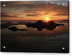Sunset In Yachats Oregon Acrylic Print by Kami McKeon