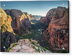 Sunset In Zion National Park Acrylic Print by JR Photography
