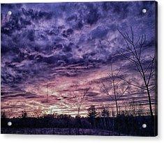 Sunset Interpretation Acrylic Print by Randi Shenkman