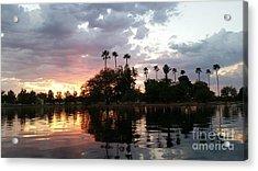 Sunset Island In Chaparral Lake Horizontal  Acrylic Print