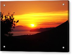 Sunset Acrylic Print by Jacqueline Doulis