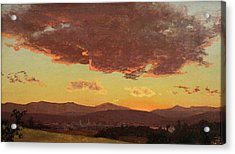 Sunset Acrylic Print by Jervis McEntee