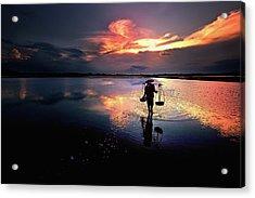 Sunset Acrylic Print by Julayne Luu