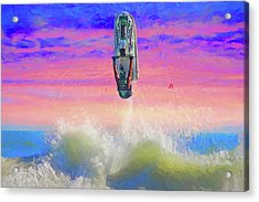 Sunset Jumper Acrylic Print by Alice Gipson