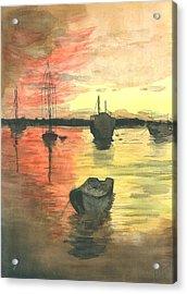 Sunset Lagoon Acrylic Print by Dan Bozich