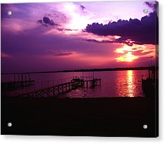 Sunset Lake 2 Acrylic Print by Evelyn Patrick
